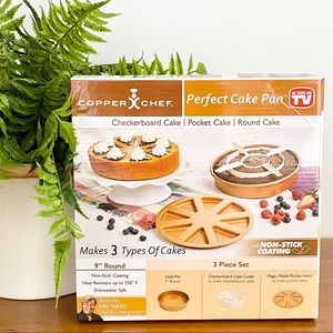 NEW Copper Chef Perfect Cake Pan Set New in …